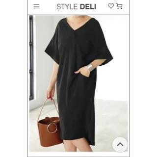 スタイルデリ(STYLE DELI)のstyle deli バックツイストVネックワンピース(ひざ丈ワンピース)