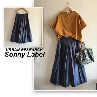 サニーレーベル(Sonny Label)のサニーレーベル  ✨グレーの前プリーツ ワイドパンツ(カジュアルパンツ)