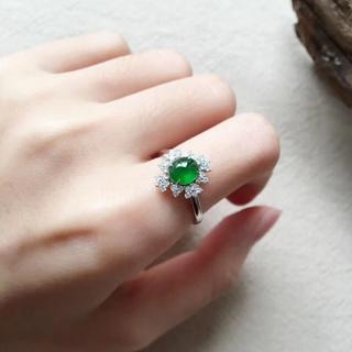 181 k18ゴールドリング 翡翠リング ダイヤモンドリング 指輪 ピンクゴー(リング(指輪))