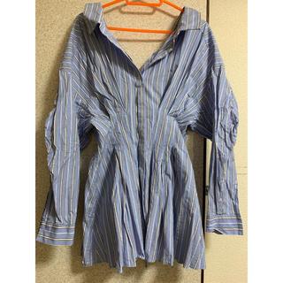 エンフォルド(ENFOLD)のストライプコルセットシャツ(シャツ/ブラウス(長袖/七分))