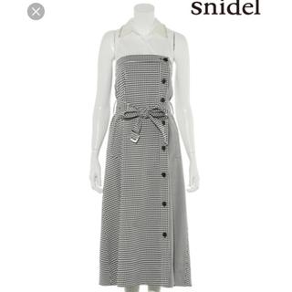 スナイデル(snidel)のsnidel 新品タグ付き ギンガムチェック ワンピース(ひざ丈ワンピース)
