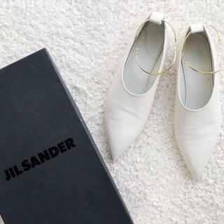 ジルサンダー(Jil Sander)のJIL SANDER FLAT PUMPS  ジルサンダー(ローファー/革靴)