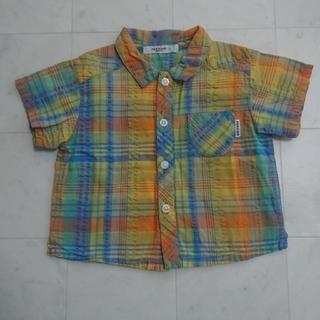 ファミリア(familiar)のファミリア チェック柄シャツ 90㎝(Tシャツ/カットソー)