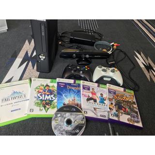 エックスボックス360(Xbox360)のxbox360とKinectセットとソフトまとめ売り(家庭用ゲーム本体)