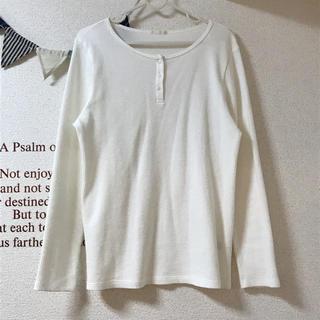 ジーユー(GU)のgu ワッフル ヘンリーネック ロング Tシャツ(Tシャツ(長袖/七分))