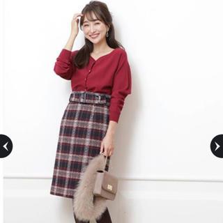 ジャスグリッティー(JUSGLITTY)の新品 ジャスグリッティー  ロービングチェックタイトスカート(ひざ丈スカート)