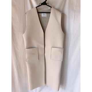 ❗️セール価格❗️スクーバー素材 ロングベスト 韓国ファッション(ロングコート)