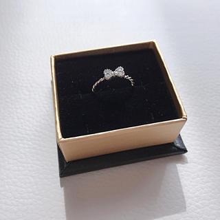 指輪 リボンモチーフ ピンキーリング(リング(指輪))