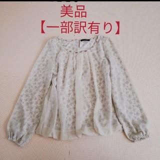 シマムラ(しまむら)のしまむら レディース トップス ホワイト 白 花 M(カットソー(長袖/七分))