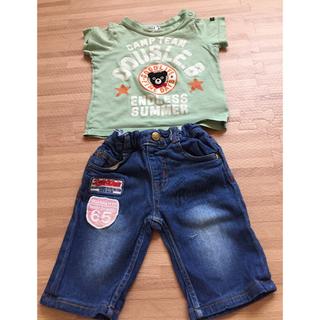 ダブルビー(DOUBLE.B)のミキハウス Tシャツ +オマケジーンズ サイズ80(Tシャツ)