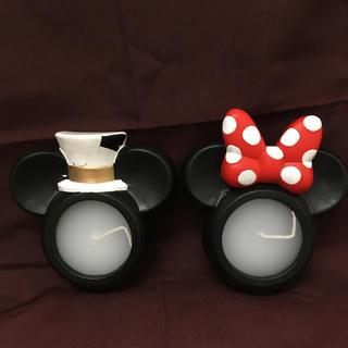 ディズニー(Disney)のキャンドル ミッキー&ミニーセット(キャンドル)