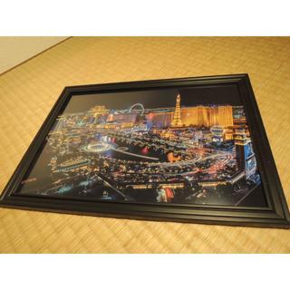 ラスベガス カジノ 額縁つき A4 アート 写真(フォトフレーム)