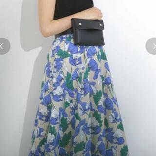 スカート 花柄
