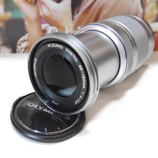 オリンパス(OLYMPUS)のメーカー保証★M.ZUIKO DIGITAL 40-150mm シルバー(レンズ(ズーム))