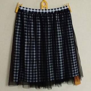 ジエンポリアム(THE EMPORIUM)のジエンポリアム チュールつきスカート(ひざ丈スカート)