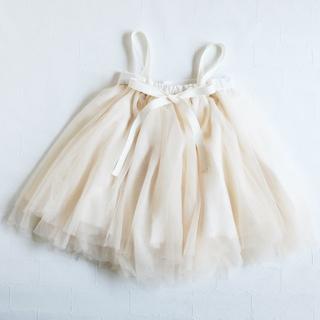 チュールワンピース ホワイト スカート ドレス チュチュ tutu 子ども 衣装
