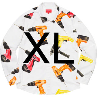 Supreme - Supreme Drills Work Shirt XL ホワイト