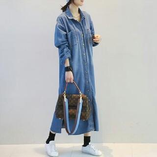 韓国 デニム シャツ ワンピース 春 作