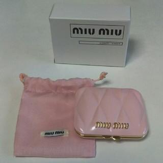 ミュウミュウ(miumiu)のぽん様専用☆新品未使用ミュウミュウのミラー(ミラー)
