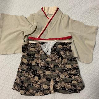 袴ロンパース スイートマミー 50-70(和服/着物)
