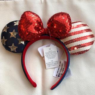 Disney - 新作☆ディズニーカチューシャ☆アメリカ国旗☆リボン☆日本未発売☆セット購入可能☆