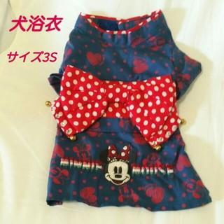 ディズニー(Disney)のディズニーシリーズミニー 犬浴衣 3S ネイビー×赤(犬)