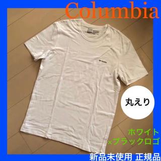 コロンビア(Columbia)の新品コロンビア 白×黒 Tシャツ 丸襟 ノースフェイスやパタゴニア好き シンプル(Tシャツ/カットソー(半袖/袖なし))