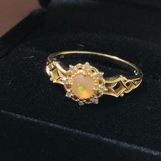 ♡可愛い♡大特価★K18リング オパールとダイヤモンドのお姫様リング