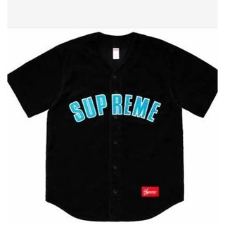 Supreme - supreme 18ss corduroy baseball jersey S