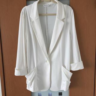 シネマクラブ(CINEMA CLUB)の七分袖 ホワイト ジャケット(テーラードジャケット)