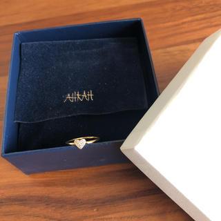 アーカー(AHKAH)の美品 アーカー ハートパヴェピンキーリング 3号(リング(指輪))