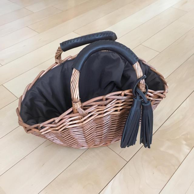 しまむら(シマムラ)のしまむら カゴバッグ ブラウン レディースのバッグ(かごバッグ/ストローバッグ)の商品写真