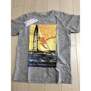 ジーユー(GU)のジーユー キッズヨットTシャツ110 グレー 新品(Tシャツ/カットソー)