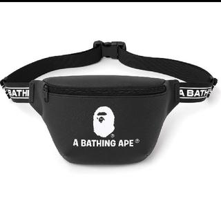 アベイシングエイプ(A BATHING APE)のa bathing ape レザー調ウエストバッグ(ウエストポーチ)