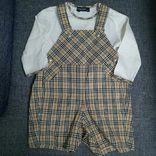BURBERRY - BURBERRY☆ロンT&サロペットsize80