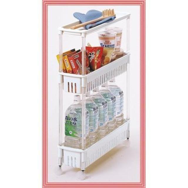 キッチン ワゴン ルーチェワゴン テーブル付き オフホワイト インテリア/住まい/日用品の収納家具(玄関収納)の商品写真