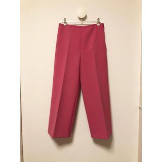 ジルサンダー(Jil Sander)のJIL SANDER NAVY ワイドパンツ 34 ピンク系(カジュアルパンツ)
