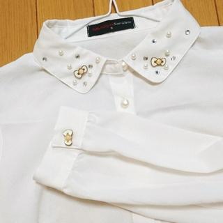 シマムラ(しまむら)のハローキティコラボ  ホワイトブラウス(シャツ/ブラウス(長袖/七分))