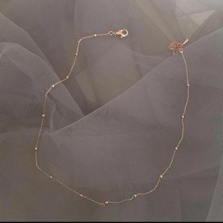 ザラ(ZARA)のインポート シンプルなヴィンテージローズゴールドコーティングチョーカーネックレス(ネックレス)