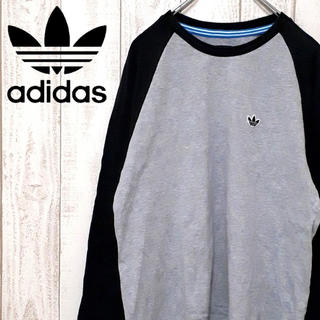 アディダス(adidas)のアディダスオリジナルス 七分丈 ラグランTシャツ ワンポイント トレフォイル (Tシャツ/カットソー(七分/長袖))