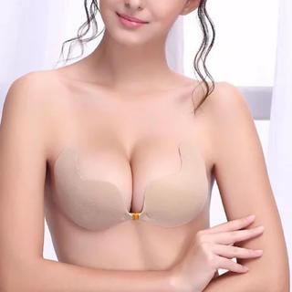 【42-C】ヌーブラ 激盛り シリコンブラ 肌色(ヌーブラ)