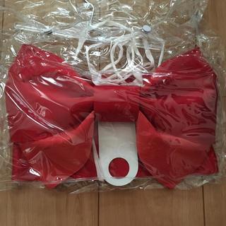 浴衣帯  赤リボン(浴衣帯)