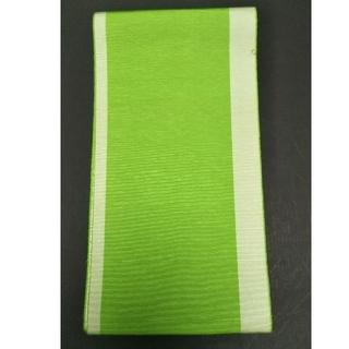 和装  絹  半幅帯  黄緑(浴衣帯)