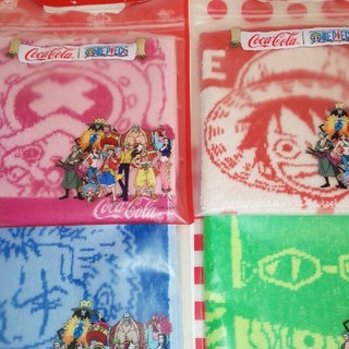 ONE PIECE    コカ・コーラ ワンピースタオル4枚セット(タオル)