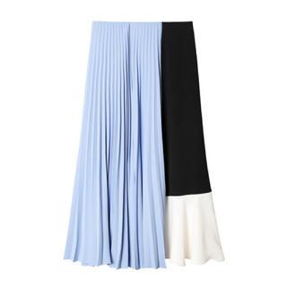 LE CIEL BLEU - ブロッキングプリーツスカート
