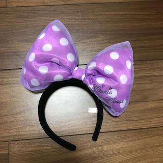 Disney - ディズニー リボンカチューシャ パープル