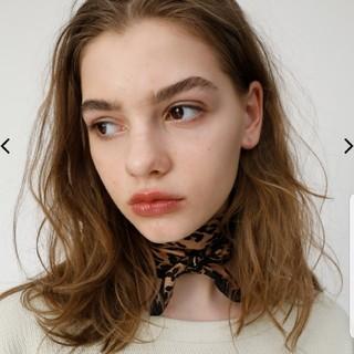 マウジー(moussy)のMOUSSY レオパードスカーフ(バンダナ/スカーフ)
