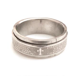 同時購入で300円 ステンレス指輪 クロス回転(リング(指輪))