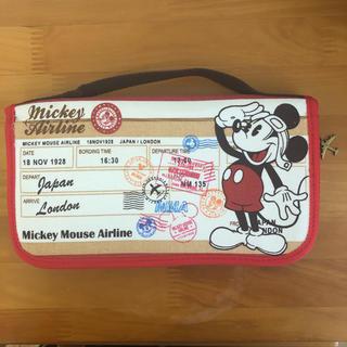 ディズニー(Disney)のパスポートケース マルチケース ミッキー(母子手帳ケース)