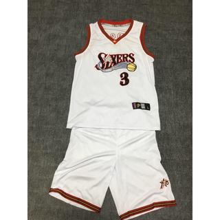 アイバーソン セットアップ NBA ユニフォーム ホーム 刺繍(バスケットボール)